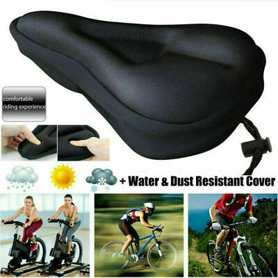 Bike Cycle Bicycle Extra Comfort Gel Pad Cushion Cover For Saddle Seat Comfy UK • 6.99£