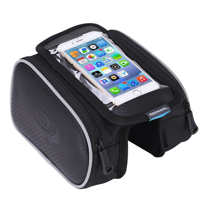 Waterproof Touch Screen Bike Frame Bag Bicycle Phone Holder Riding Equipment UK • 12.39£