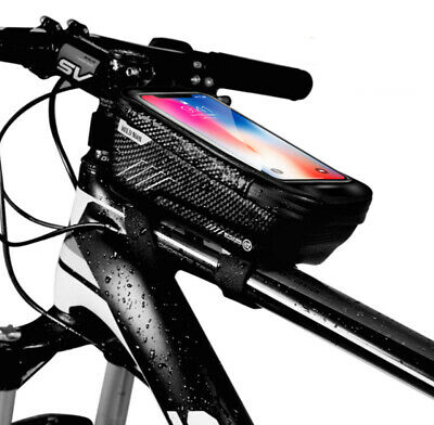UK Waterproof Touch Screen Bike Frame Bag Bicycle Phone Holder Riding Equipment • 12.65£