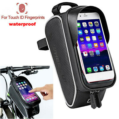 Waterproof Bike Bicycle Front Tube Pouch Bag Frame Pannier Mobile Phone Holder • 11.49£