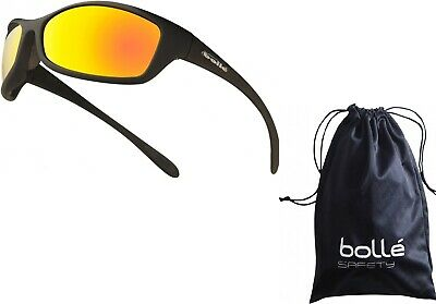 Bolle Spider Flash  Mirror Lens Safety Sunglasses,,  EN166 -1FT Safety Glasses • 13.10£
