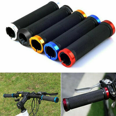 Double Lock On Locking Mtb Mountain Bmx Bike Cycle Bicycle Handle Bar Grips • 5.49£