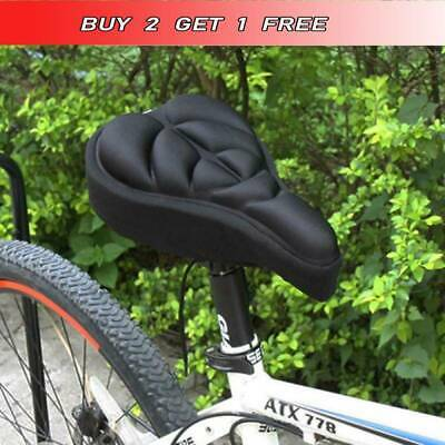 Cycling Bike Silicone Saddle Seat Cover Gel Cushion Soft Comfortable Pad1 • 5.49£