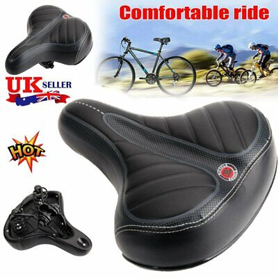 Comfort Wide Big Bum Bike Bicycle Gel Cruiser Extra Sporty Soft Pad Saddle Seat • 21.85£
