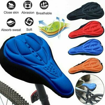 Bike Bicycle Silicone 3D Gel Saddle Seat Cover Pad Padded Soft Cushion Comfort • 4.88£