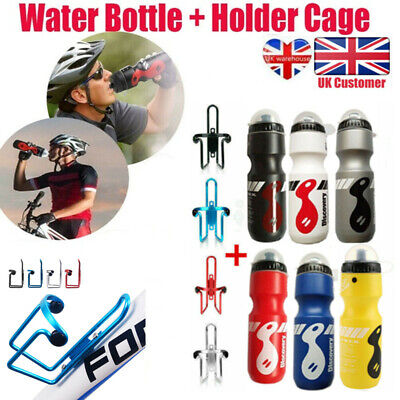 750ML Mountain Bike Bicycle Cycling Water Drink Bottle And Holder Cage Kit • 5.99£