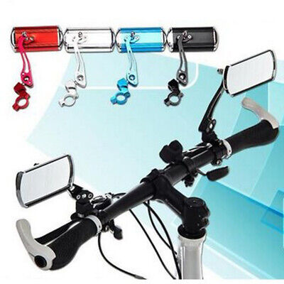 1pair Bicycle Bike Cycling Handlebar Rear View Rearview Mirror Rectangle Back • 10.49£
