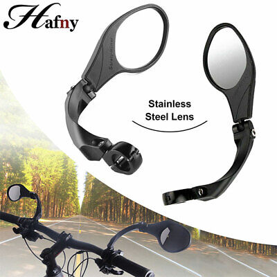 MTB Bike Rearview Mirror Stainless Steel Lens 360° Rotate Foldable Left/Right UK • 14.69£