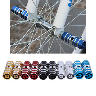 2pcs Axles Aluminum Alloy Stunt Foot Pegs Pedal For BMX Bicycle Cycling • 2.69£