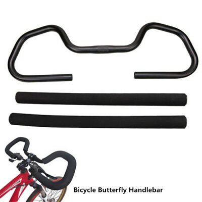 25.4/31.8*580mm Bicycle Butterfly Handlebar Aluminum Fixed Gear Bar With Sponge • 23.99£