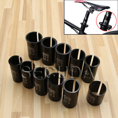 MTB Bicycle Bike Seat Post Shim Tube Sleeve Reducer Seatpost Convert Adapter • 6.28£