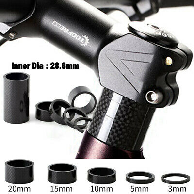 5pcs/set 28.6mm Carbon Fiber Washers MTB Bike Bicycle Headset Stem Spacers UK • 4.70£