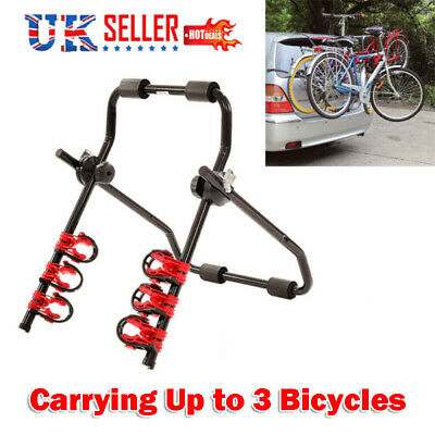 3 Bicycle Bike Car Cycle Carrier Rack Hatchback Rear Mount Mounted Universal • 24.95£