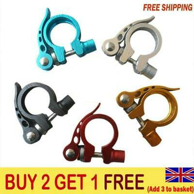Mountain Bike Mtb Road Bicycle Lightweight Alloy Seat Post Clamp Bolt 34.9mm G1 • 3.99£