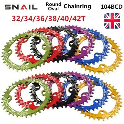 Bike Narrow Wide Round Oval BCD 104mm Chainring Ring 32T - 42T Tooth Chainwheel  • 13.99£