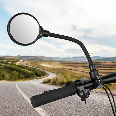 Bicycle Adjustable Handlebar Convex Rear View Mirrors Bike Rearview Mirror Newly • 7.49£