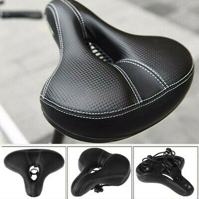 Extra Wide Comfy Cushioned Bike Seat Soft Padded Bicycle Gel Universal Saddle • 11.98£