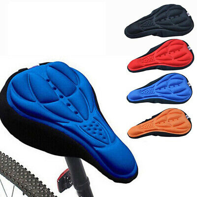 Bike Bicycle Silicone 3D Gel Saddle Seat Cover Pad Padded Soft Cushion Cycling Q • 2.86£