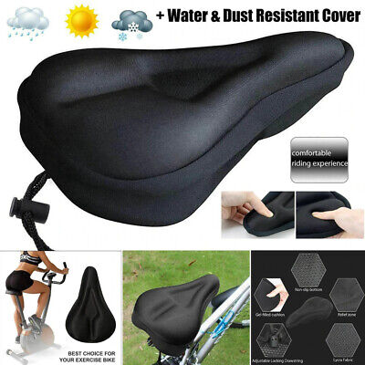 Soft Padded Gel Bicycle Cycle Saddle Cushion Cushioned Road Bike Seat Cover UK • 3.99£