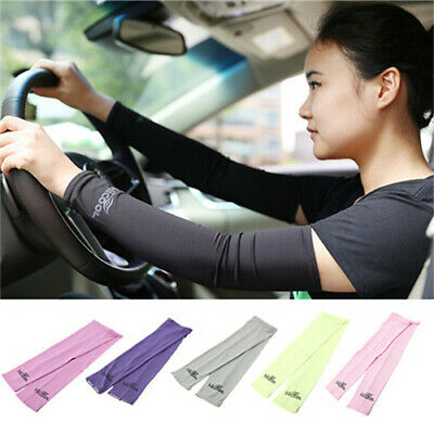 1pair Cooling Sport Skins Sun Protective Arm Sleeves Anti-ultraviolet Cuff • 2£