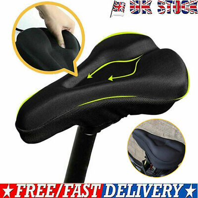 Silicone Gel Anti-slipping Bicycle Bike Cycling Saddle Seat Cover Cushion Pad • 6.29£