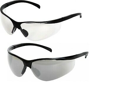 High Quality Clear Smoke Lens Safety Glasses Specs Spectacles Eye PPE Cycling  • 5.99£
