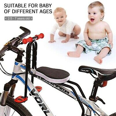 Safety  Kids Bike Bicycle Seat Front Carrier With Handrail Armrest NEW • 19.99£