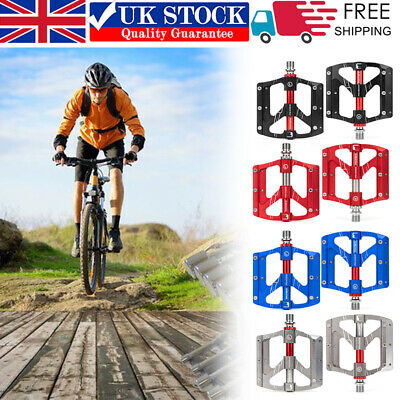 PROMEND Aluminum Alloy Bicycle Pedal MTB Road Bike Flat Pedals 3 Sealed Bearings • 22.79£