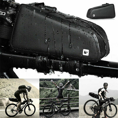 Waterproof Bicycle Front Tube Bag Cycling Top Frame Storage Pouch MTB Road Bike • 12.89£