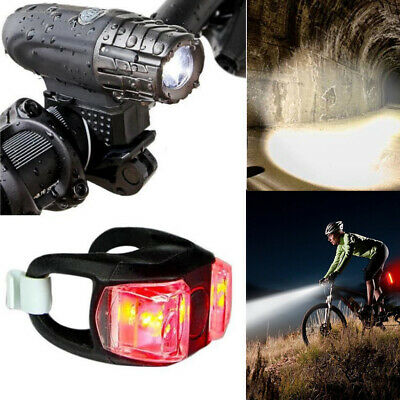 Rechargeable USB LED Bicycle Bike Head And Tail Cycling Front Back Headlight Set • 7.99£