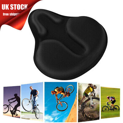 UK Bike Extra Comfort Soft Gel Pad Comfy Cushion Saddle Seat Cover Bicycle Cycle • 13.98£