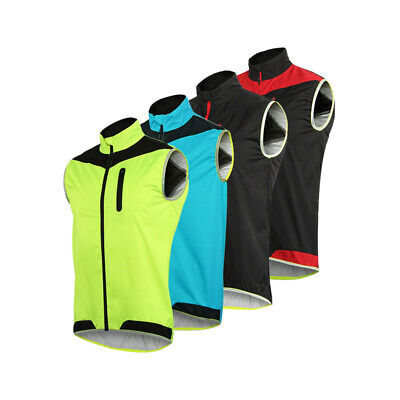 Windproof MTB Cycling Vest Bike Bicycle Breathable Reflective Waterproof Sports • 14.47£