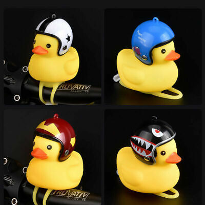 Bike Bell Rubber Duck Bicycle Bells Motorcycle Horn Handlebar Alarm Light Mini • 4.79£