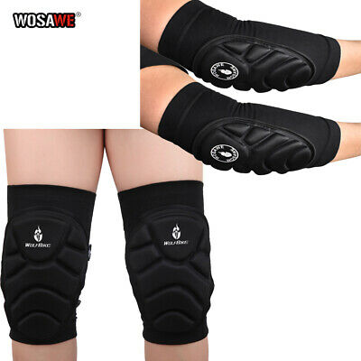 Knee & Elbow Pads Set MTB Bike Cycling Brace Protector Joint Support Skateboard • 13.71£