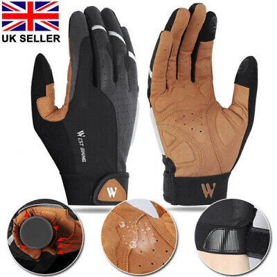 Cycling Winter Waterproof Touch Screen Full Finger Windproof Bicycle Gloves Hot • 14.79£