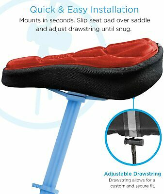 3D Silicone Gel Bike Bicycle Cycling Saddle Seat Cover Comfort Soft Cushion Pad • 1£