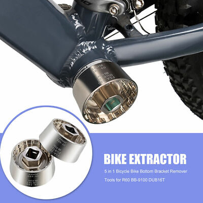 5 In 1 Bicycle Bottom Bracket Remover Extractor For R60 BB-9100 DUB16T FSA386 • 6.99£