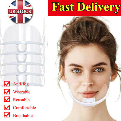 Half Face Shield Clear Mouth Shield Anti-saliva Catering Chef Cover Transparent • 23.06£