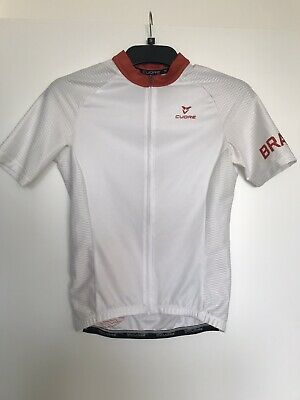Cuore BRAVE White / Red Mens Shortsleeve Cycling Jeresey, Size S • 13£