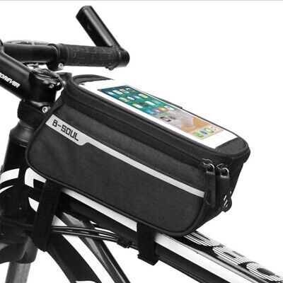 Waterproof MTB Mountain Bike Frame Front Bags Pannier Hiking Mobile Phone Holder • 7.69£