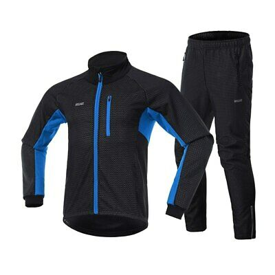 Men's Winter Cycling Jacket Set Windproof Thermal Sportswear Bicycle Bike Pants • 35.19£