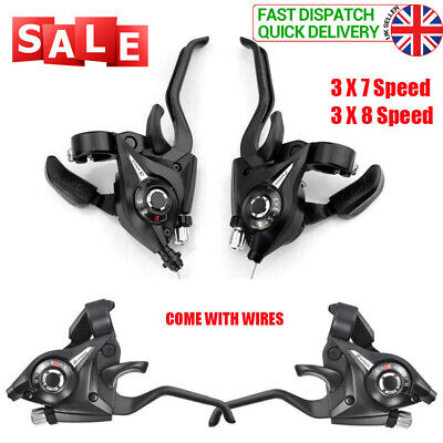 GEAR Shifter/Brake Lever For Shimano ST-EF51 3 X 7,8,21,24 Speed Set Lever UK • 11.99£