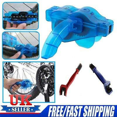 Bicycle Chain Wheel Cleaning Brushes MTB Bike Wash Scrubber Cleaner Tool • 4.99£