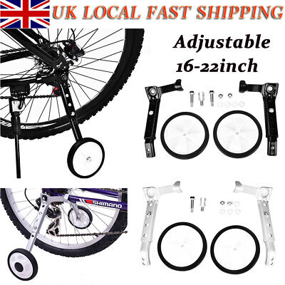 Black Kids Bicycle Auxiliary Safety Wheel Stabilisers for 16-24 inch Bike \UK