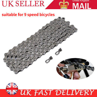 9 Speed 116 Links HG-73 Mountain/Road Bike Bicycle Chain Steel For Deore LX 105 • 6.99£