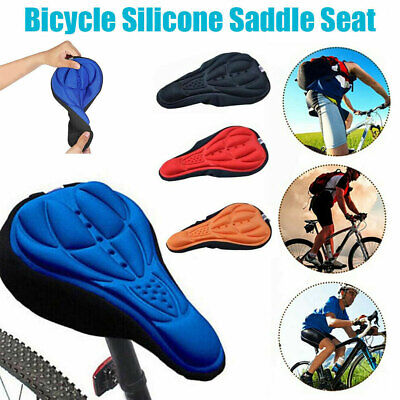Bike Bicycle Silicone 3D Gel Saddle Seat Cover Pad Padded Soft Cushion Comfort • 2.99£