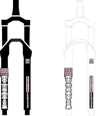 ROCK SHOX FORK Fox Stickers Decals Mountain Bike Down Hill MTB #b0206 • 7.99£