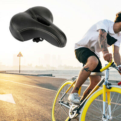 Comfy Extra Wide Saddle Bike Seat Pad Soft Padded Bicycle MTB  Universal Saddle • 5.99£