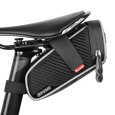 Bicycle Waterproof Storage Saddle Bag Bike Seat Cycling Rear Pouch Outdoor UK • 8.99£