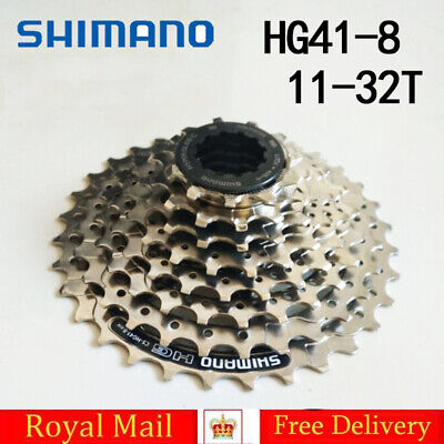 SHIMANO CS HG41 8 Speed MTB Cassette Sprocket 11-32T Mountain Bike Bicycle Bike • 16£